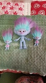 "2015 Dreamworks HASBRO 10"" Blue Troll + 2 Mini Blue Trolls!  3pcs in Spring, Texas"