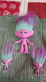 "2015 Dreamworks HASBRO 10"" Troll + 2 Mini Trolls!   Pink and Purple in Kingwood, Texas"