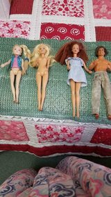 3 Mattel Ken and Barbie Dolls + 1 Small Doll (Brand unknown)!   4pcs in Kingwood, Texas