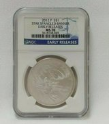 2012 p star spangled banner early releases silver dollar ms 70 ngc in Camp Lejeune, North Carolina