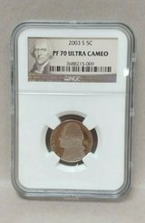 2003-s jefferson proof nickel 5c ngc pf70 ultra cameo (portrait label) in Camp Lejeune, North Carolina