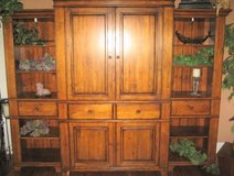 VINTAGE SOLID WOOD TV/CABINET/SHELVING UNIT - RUSTIC & LARGE - 3 PIECES in Naperville, Illinois
