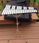 Ludwig percussion bell set xylophone practice pad mallets book rolling case in Plainfield, Illinois