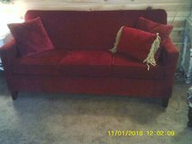 THIS COUCH VERY NICE ,IS AFFORDABLE ,IS CHERRY RED in Naperville, Illinois