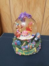 """Disney Winnie the Pooh """"Happy Birthday to You"""" Retired Musical Snow Globe in Bellaire, Texas"""
