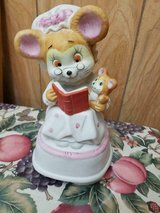 """Vintage Ceramic Mother Mouse and Baby Musical Figurine!   Cute   8"""" Tall in Bellaire, Texas"""