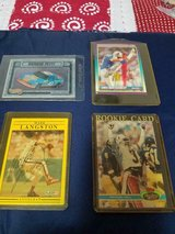 4 Mixed Professional Sports Trading Cards! Racing, Football, Baseball!    2 Autographed in Kingwood, Texas