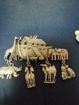 NOAH'S ARK / ARC Silver Tone Women's Brooch / Pin! by JJ Signed! in Bellaire, Texas