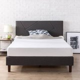 Zinus Upholstered Geometric Paneled Queen Size Platform Bed - New! in Naperville, Illinois