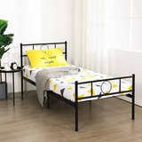 Twin Bed Frame Platform with Headboard - No Boxspring Needed - New! in Naperville, Illinois