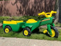 JOHN DEERE Pedal Tractor and Trailer in Plainfield, Illinois