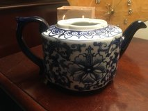 Blue Painted Bombay Teapot Made in China with no Lid in Quantico, Virginia