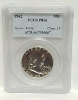 1962 pcgs pr66 50c half dollar in Camp Lejeune, North Carolina