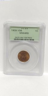 1909 vdb ms64rd 1c pcgs cent in Camp Lejeune, North Carolina
