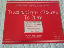 Teaching Little Fingers to play piano book in Vista, California