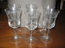 6 cordial glasses with floral pattern in Pasadena, Texas
