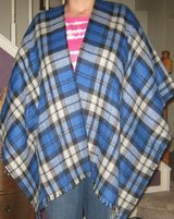 open front plaid poncho – one sz fits most in Pasadena, Texas