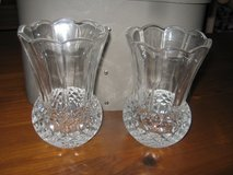 two heavy cut glass vases in Pasadena, Texas
