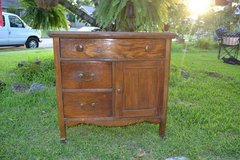 American Early 1900s Solid Oak Wash Stand Dresser Cupboard Cabinet Peg in Camp Lejeune, North Carolina