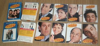Seinfeld Complete Seasons 1 2 3 DVD Box Sets 8 Disc Total in Morris, Illinois
