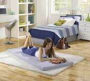 Memory Foam Mattress: Roll-Up Guest Bed/Floor Mat Twin Size - New! in Naperville, Illinois