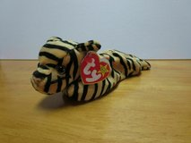 "]""Stripes"" the Tiger Beanie Baby by TY (retired) born 11 Jun 95 (with errors) in Fort Belvoir, Virginia"