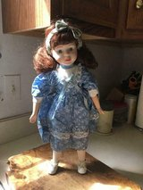 "Beautiful porcelain doll 16 1/2"""" tall dress is removable...never played with in Fort Belvoir, Virginia"
