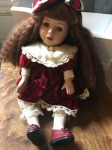 Antique porcelain doll 12 inches tall that plays music in Fort Belvoir, Virginia