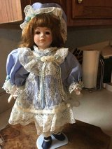 Beautiful 18 inch Porcelain Doll with stand and parasol...only used for show in Fort Belvoir, Virginia