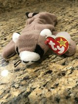 TY Beanie Baby 4014 Ringo the Racoon 1995 PVC Rare with Tag Errors Retired in Fort Belvoir, Virginia