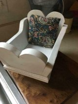 Vintage Solid Wood Doll Cradle with Pillow in Fort Belvoir, Virginia