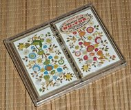 NEW Vintage NuVue Stancraft Playing Cards 2 Decks Red Blue Floral Plastic Coated in Morris, Illinois