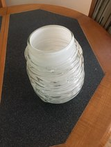 Torre and Tagus milk glass vase with clear glass rope wrapped around the outside in Fort Belvoir, Virginia