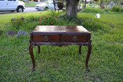 Antique minature table 19th cent from NYC - Tagged named in Camp Lejeune, North Carolina