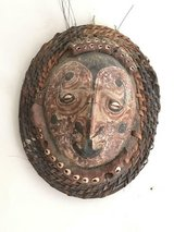 Vintage Mask made of Clay on Turtle Shell from Papua, New Guinea in Fairfax, Virginia