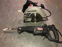Craftsman circular saw and reciprocating saw in Naperville, Illinois