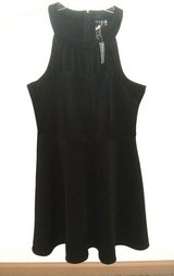 NEW w Tags Wet Seal Trixxi Black Sleeveless Strappy Cut Out Neck Fit & Flare Dress 11 in Yorkville, Illinois