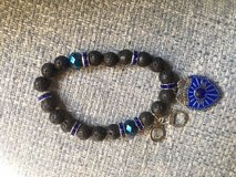 Police Appreciation Lava Bead Bracelets with Charms in Fort Belvoir, Virginia