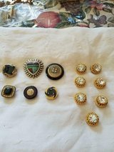 13 Silver & Gold Tone Assorted Shirt / Blouse Button Covers! Shiny Rhinestones and Crystals. in Bellaire, Texas