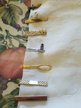 7 Men's Assorted Vintage TIE BARS! PIONEER Ship (SIGNED), Sword, Gold Dust, etc in Bellaire, Texas