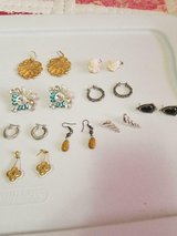 9 Pairs of Mixed Vintage Earrings!  Signed MISIAS (1) and Unsigned! in Bellaire, Texas