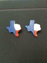 Hand Made and Painted Wood TEXAS State Pierced Earrings! Unique and Rare! in Spring, Texas