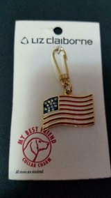 "New Liz Claiborne ""My Best Friend"" Pet Collar Charm! Small Replica of US Flag! in Bellaire, Texas"