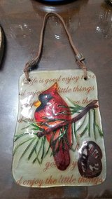 """Pretty glass Red Cardinal Bird Home Décor Wall Hanging! Approximately 6"""" in Bellaire, Texas"""