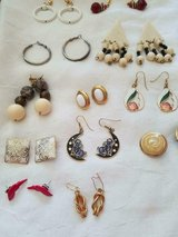 Mixed Lot of 12 Pairs of Pierced Earrings! Hoop, Drop, Dangle, and Stud styles in Spring, Texas