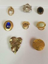 Lot of 8 Vintage Scarf Clips! 4 Signed by Jeri Lou and 4 Unsigned! in Spring, Texas