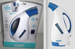New! Conair Clothing/ Garment Fabric Steamer w/retractable Cord Spill Protect in Orland Park, Illinois