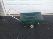 Vintage metal garden cart in Sandwich, Illinois