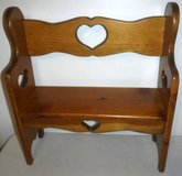 Wooden Doll Bench - fits up to American Girl size Dolls in Bolingbrook, Illinois