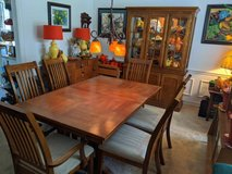 Mission Style Oak Dining Table, 6 Chairs and China Cabinet in Houston, Texas